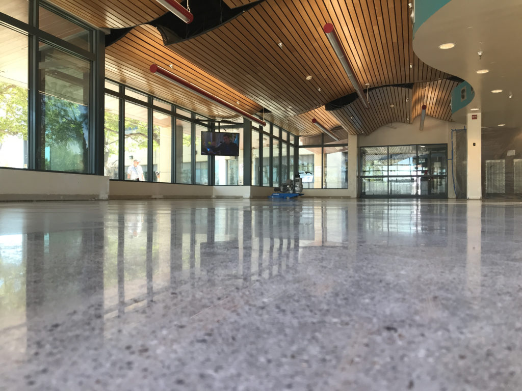 Natural Concrete Polish for FAA San Diego.